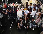 "Roddy Kennedy with High School Student performers during a Q & A before The Rockefeller Foundation and The Gilder Lehrman Institute of American History sponsored High School student #EduHam matinee performance of ""Hamilton"" at the Richard Rodgers Theatre on June 6, 2018 in New York City."
