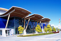 Richmond Olympic Oval, Richmond, BC, British Columbia, Canada - 2010 Vancouver Winter Olympics Speed Skating Rink Venue.  The roof is constructed mainly of mountain pine beetle-killed wood.