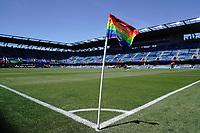 SAN JOSE, CA - JUNE 8: Corner flag during a game between FC Dallas and San Jose Earthquakes at Avaya Stadium on June 8, 2019 in San Jose, California.