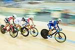 Ho Kin Ming (r) of the Cyclone competes in Men Junior - Omnium III Elimination during the Hong Kong Track Cycling National Championship 2017 on 25 March 2017 at Hong Kong Velodrome, in Hong Kong, China. Photo by Marcio Rodrigo Machado / Power Sport Images
