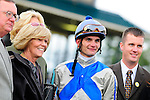 31 October 2009: Jockey Jamie Theriot poses with the connections of Blame, the winner of the 51st running of the $150,000 Fayette Grade II stakes race.