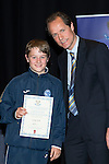 St Johnstone FC Youth Academy Presentation Night at Perth Concert Hall..21.04.14<br /> Alec Cleland presents to Craig Tosh<br /> Picture by Graeme Hart.<br /> Copyright Perthshire Picture Agency<br /> Tel: 01738 623350  Mobile: 07990 594431