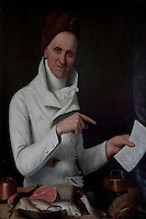 A portrait of the cook, Joseph Florence, is one of four portraits of members of the ducal household in the serving room