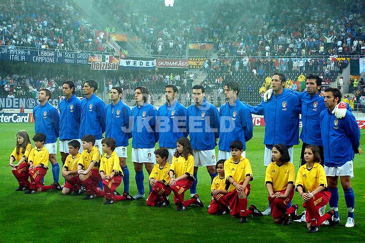 Italie line up Europees kampioenschap 2004 Portugal seizoen 2003-2004 22-06-2004