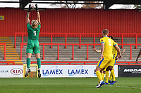 Chris Haigh of Concord Rangers FC jumps and catches a cross during Stevenage vs Concord Rangers , Emirates FA Cup Football at the Lamex Stadium on 7th November 2020