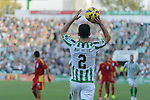Betis player Molinero throw of during the match between Real Betis and Recreativo de Huelva day 10 of the spanish Adelante League 2014-2015 014-2015 played at the Benito Villamarin stadium of Seville. (PHOTO: CARLOS BOUZA / BOUZA PRESS / ALTER PHOTOS)
