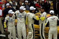 Johnny O'Connell, Chris Keifel, Ron Fellows and Franck Freon receive congratulations from teammate Dale Earnhardt, Sr..39th Rolex 24 at Daytona, 3/4 February,2001 Daytona International Speedway  Daytona Beach,Florida,USA.©F.Peirce Williams 2001 ..