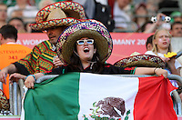Wolfsburg , 270611 , FIFA / Frauen Weltmeisterschaft 2011 / Womens Worldcup 2011 , Gruppe B  ,  .England - Mexico .mexinkanische Fans .Foto:Karina Hessland .