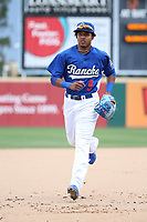 Erick Mejia (9) of the Rancho Cucamonga Quakes during a game against the Inland Empire 66ers at LoanMart Field on May 7, 2017 in Rancho Cucamonga, California. Rancho Cucamonga defeated Inland Empire, 6-0. (Larry Goren/Four Seam Images)