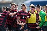 BERKELEY, CA - November 16, 2014: The Stanford Cardinal vs Cal Bears men's soccer match in Berkeley, California. Final score, Stanford 2, Cal 0.