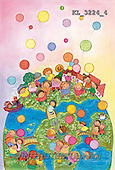 Interlitho, Soledad, CHRISTMAS CHILDREN, naive, paintings, kids world, globe(KL3224/4,#XK#) Weihnachten, Navidad, illustrations, pinturas