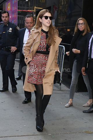 NEW YORK, NY- November 11: Anna Kendrick at Good Morning America promoting her Disney Christmas movie Noelle on November 11, 2019 in New York City. Credit: RW/MediaPunch