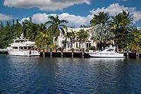 Ft. Lauderdale, Florida.  Marina Inlet off E. Las Olas Boulevard.