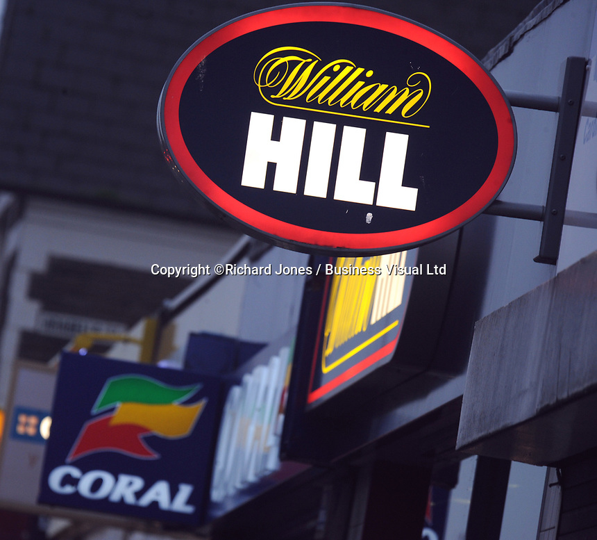 Gambling and Betting shop, William Hill in Cardiff, Wales, UK <br /> 01-Oct-2013