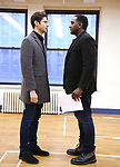 """Drew Gehling and Norm Lewis during a Performance Sneak Peek of The MCP Production of """"The Scarlet Pimpernel"""" at Pearl Rehearsal studio Theatre on February 14, 2019 in New York City."""