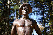 Civilian Conservation Corps statue located in Bear Brook State Park of Allenstown, New Hampshire USA
