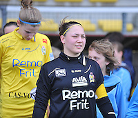 1/2 Halve finale Beker van Belgie ; Waasland Beveren Sinaai Girls - Standard Femina de Liege : Kelly Ickmans.foto DAVID CATRY / Vrouwenteam.be