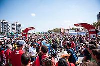 Castellon, SPAIN - SEPTEMBER 7: Bikers during LA Vuelta 2016 on September 7, 2016 in Castellon, Spain