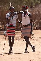 hamer warriors at Turmi market Ethiopia