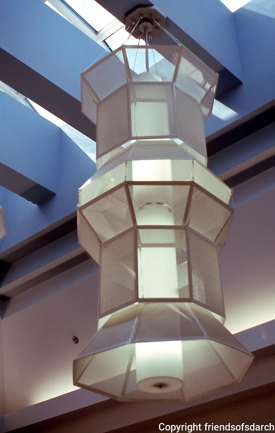 Charles Moore: Lobby Light Fixture--Oceanside City Hall. (Photo '91)