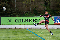 Chris Hankinson (on loan from Wigan) of London Broncos conversion during the Betfred Championship match between London Broncos and Newcastle Thunder at The Rock, Rosslyn Park, London, England on 9 May 2021. Photo by Liam McAvoy.
