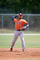 Houston Astros Miguelangel Sierra (3) during a Minor League Spring Training game against the St. Louis Cardinals on March 27, 2018 at the Roger Dean Stadium Complex in Jupiter, Florida.  (Mike Janes/Four Seam Images)