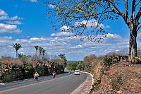Estrada na caatinga, BR 343 em Angical do Piaui. Piaui. 2015. Foto de Candido Neto.