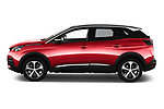 Car driver side profile view of a 2018 Peugeot 3008 Allure 5 Door SUV