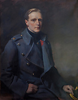 Portrait of Charles Alfred Euston FitzRoy, 10th Duke of Grafton in military dress (1892-1970), painted by Sir Oswald Birley