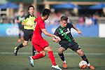 Stoke City vs HKFA U-21 during the Main tournament of the HKFC Citi Soccer Sevens on 22 May 2016 in the Hong Kong Footbal Club, Hong Kong, China. Photo by Lim Weixiang / Power Sport Images