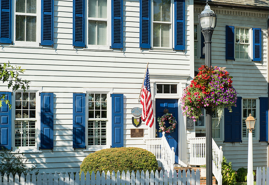 Historic colonial house, Lewes, Delaware, USA