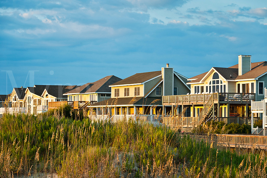 Luxury beach front houses, Corolla, Outer Banks, North Carolina, USA