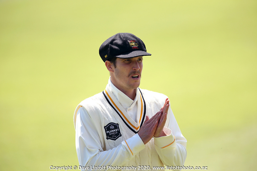 Andrew Fletcher during Day 1 of Round Two Plunket Shield cricket match between Canterbury and Wellington at Hagley Oval in Christchurch, New Zealand on Wednesday, 28 October 2020. Photo: Martin Hunter / lintottphoto.co.nz