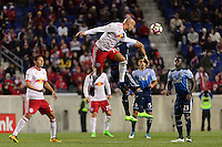 Harrison, NJ - Wednesday Feb. 22, 2017: Aurelien Collin during a Scotiabank CONCACAF Champions League quarterfinal match between the New York Red Bulls and the Vancouver Whitecaps FC at Red Bull Arena.