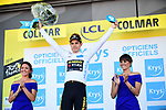 Wout Van Aert (BEL) Team Jumbo-Visma retains the young riders White Jersey at the end of Stage 5 of the 2019 Tour de France running 175.5km from Saint-Die-des-Vosges to Colmar, France. 10th July 2019.<br /> Picture: ASO/Alex Broadway | Cyclefile<br /> All photos usage must carry mandatory copyright credit (© Cyclefile | ASO/Alex Broadway)
