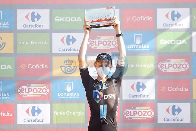 Michael Storer (AUS) Team DSM from the breakaway wins Stage 7 of La Vuelta d'Espana 2021, running 152km from Gandia to Balcon de Alicante, Spain. 20th August 2021.     <br /> Picture: Luis Angel Gomez/Photogomezsport   Cyclefile<br /> <br /> All photos usage must carry mandatory copyright credit (© Cyclefile   Luis Angel Gomez/Photogomezsport)