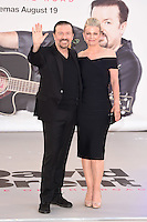 """Ricky Gervais and wife, Jane Fallon<br /> arrives for the """"David Brent: Life on the Road"""" premiere at the Odeon Leicester Square, London.<br /> <br /> <br /> ©Ash Knotek  D3143  10/08/2016"""