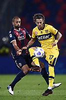 Jacopo Dezi-Danilo Larengeira <br /> during the Serie A football match between Bologna FC and Parma Calcio 1913 at stadio Renato Dall Ara in Bologna (Italy), September 28th, 2020. Photo Image Sport / Insidefoto