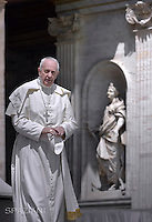 Pope Francis during general audience at the Vatican,May 20.2015