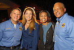 From left: Tilman and Paige Fertitta with Lonetta and Harold Hurtt at the Second Annual True Blue Gala sponsored by the Houston Police Foundation at the Fertitta's home Saturday Oct. 17,2009. (Dave Rossman/For the Chronicle)