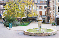 The main town square in the Old Town. on Place Pelissiere Square Bergerac Dordogne France