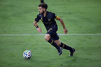 LOS ANGELES, CA - SEPTEMBER 13: Diego Rossi #9 of LAFC moves with the ball during a game between Portland Timbers and Los Angeles FC at Banc of California stadium on September 13, 2020 in Los Angeles, California.