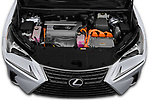 Car Stock 2020 Lexus NX 300h 5 Door SUV Engine  high angle detail view