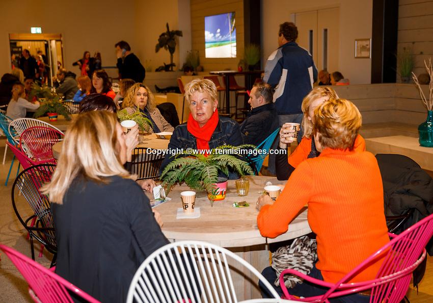 The Hague, The Netherlands, Februari 8, 2020,    Sportcampus, FedCup  Netherlands -  Balarus, Fanzone<br /> Photo: Tennisimages/Henk Koster