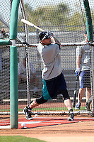 Corey Hart of the Seattle Mariners participates in the first day of spring training workouts at the Mariners complex on February 13, 2014 in Peoria, Arizona (Bill Mitchell)