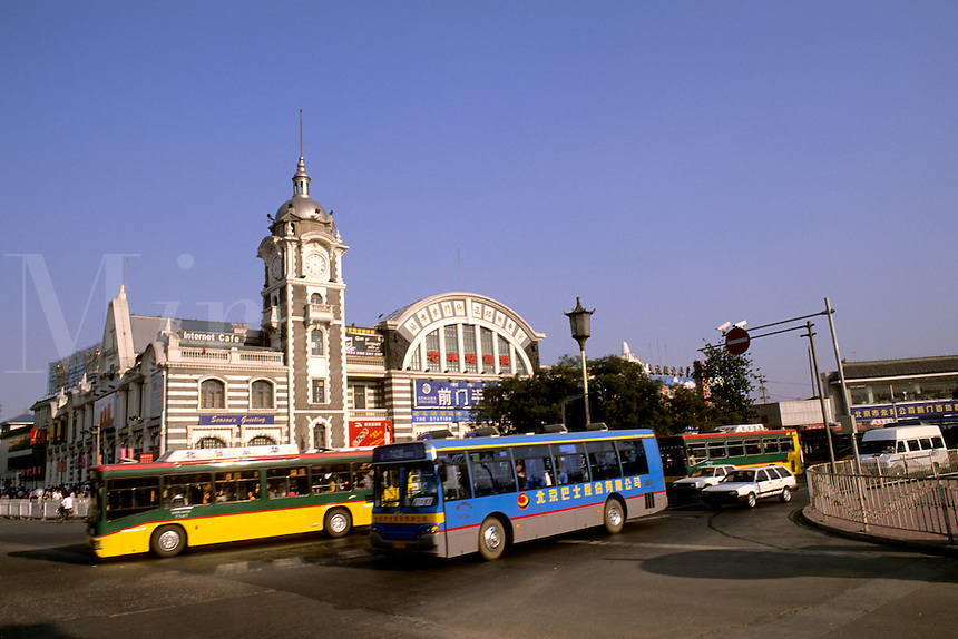 Famous old train station in Beijing China.