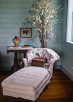 The bedroom of Robert Louis Stevenson's stepdaughter, Isobel, at their Vailima home.