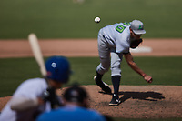 Lynchburg Hillcats relief pitcher Cade Smith (40) in action against the Kannapolis Cannon Ballers at Atrium Health Ballpark on August 29, 2021 in Kannapolis, North Carolina. (Brian Westerholt/Four Seam Images)