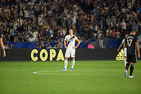 CARSON, CA - SEPTEMBER 15: Zlatan Ibrahimovic #9 of the Los Angeles Galaxy celebrates his goal during a game between Sporting Kansas City and Los Angeles Galaxy at Dignity Health Sports Park on September 15, 2019 in Carson, California.