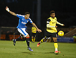 James Tavernier tries his luck as Myles Hippolyte watches on